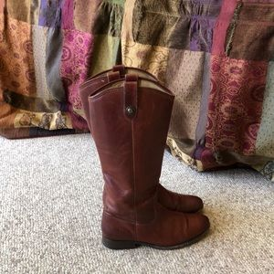 Frye Chestnut brown Melissa tall riding boots 8.5